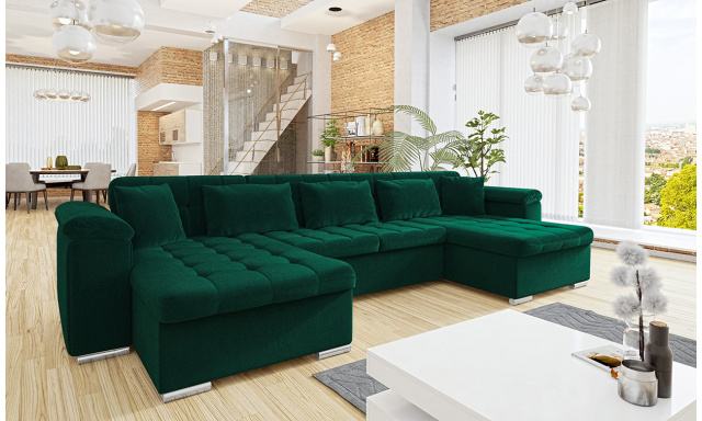 Luxusní sedací souprava Viktorie, zelená Jaguar