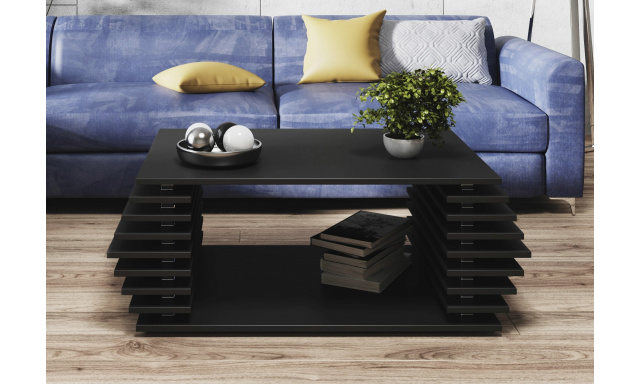Moderní konferenční stůl Oskar, černý mat