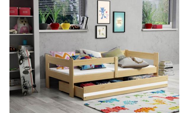 Dětská postel s úložným prostorem Heros, borovice + matrace ZDARMA!