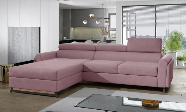 Luxusní sedací souprava Martina, růžová Monolith