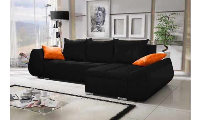Moderní sedací souprava Corfu, černá
