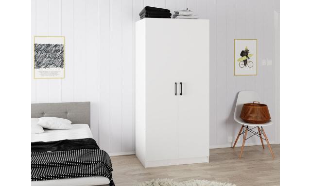 Moderní 2-dveřová skřín Kepora, bílá