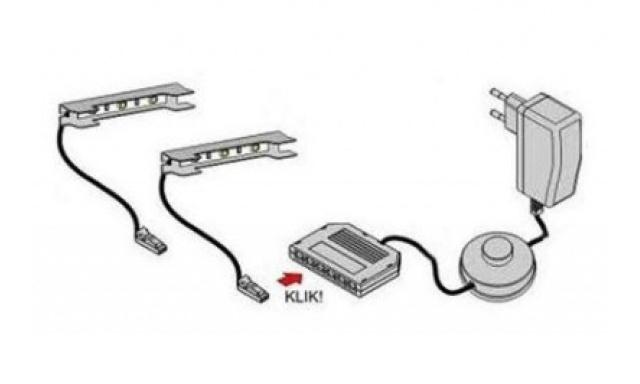 LED osvětlení komody Atom 5x RGB