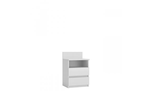 Noční stolek Meste M1, bílý