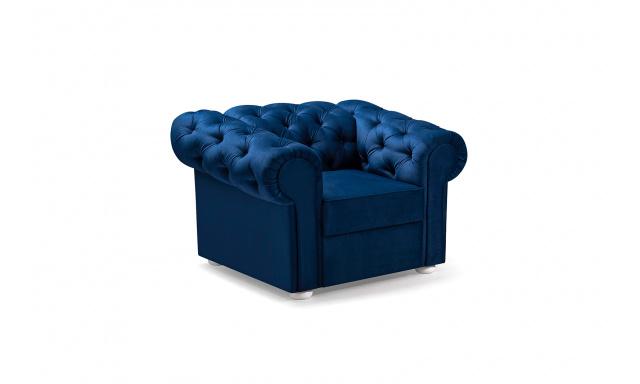 Křeslo ve stylu Chesterfield Valerie, modré
