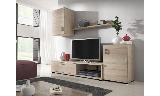 Moderní obývací stěna Linda, sonoma