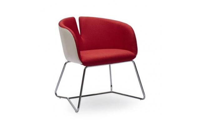 Relaxační židle Prego, červená