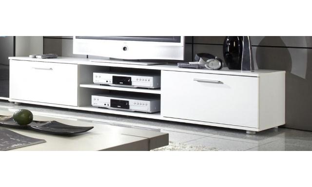 Moderní televizní stolek Zita 180, bílá/bílý lesk