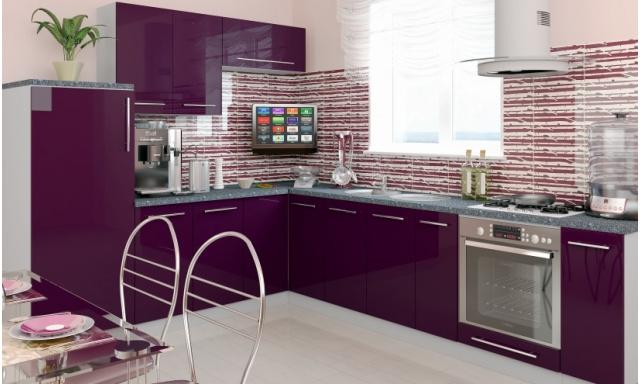 Luxusní kuchynská linka Platinum R, vysoký lesk!
