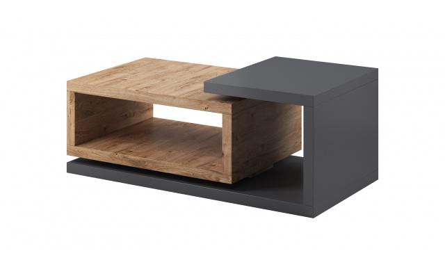 Konferenční stolek Bigla, dub Ribbeck/šedá