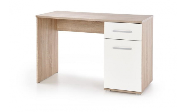 PC stůl Lenka, sonoma / bílá