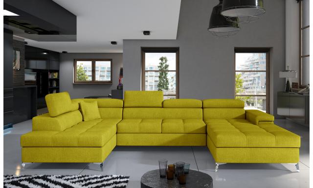 Rohová sedačka ve tvaru U Esperanza, žlutá