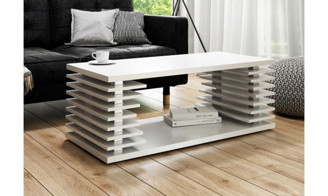 Moderní konferenční stůl Verona, bílý mat