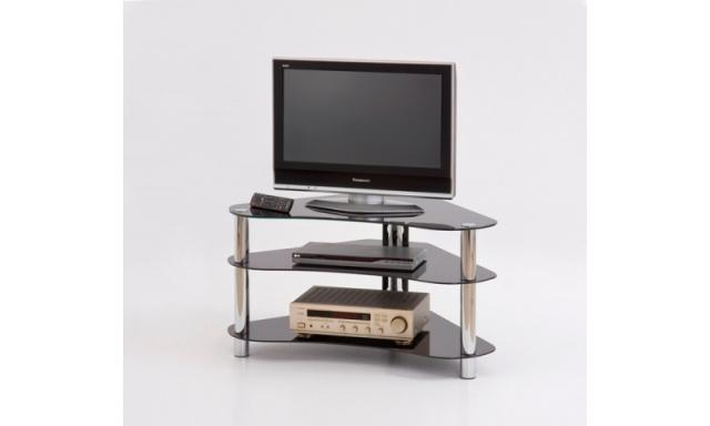 Skleněný TV stolek RTV-13 černý