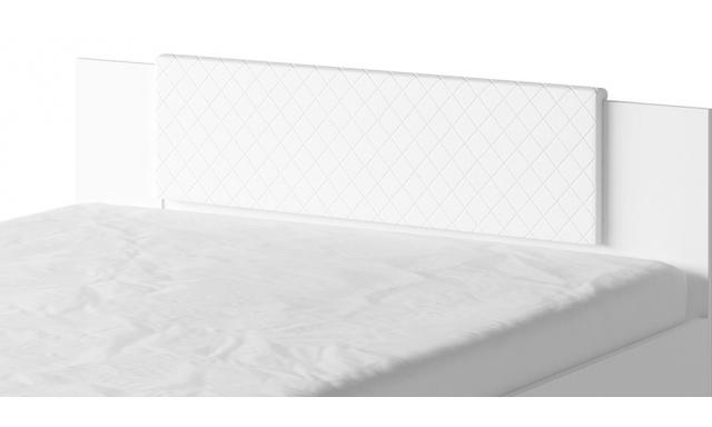 Záhlavník k posteli Bern, bílý
