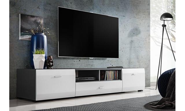 TV stolek Clip, grafit/bílá