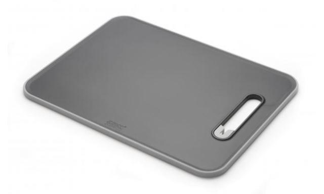 Prkénko s brouskem JOSEPH JOSEPH Slice&Sharpen™, velké/šedé