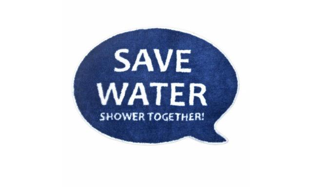 Koupelnová předložka BALVI Better Together, modrá