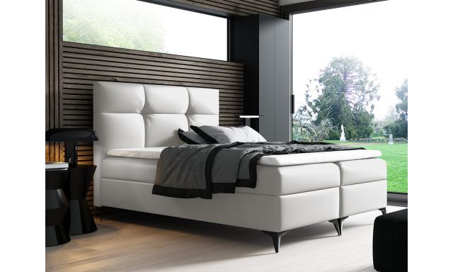 Kontinentální postel Fresina 200x200, bílá
