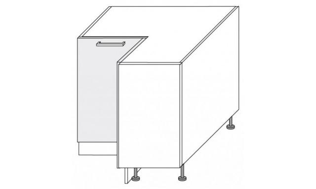 PLATINUM dolní skřínka 90cm D12/90 rohová