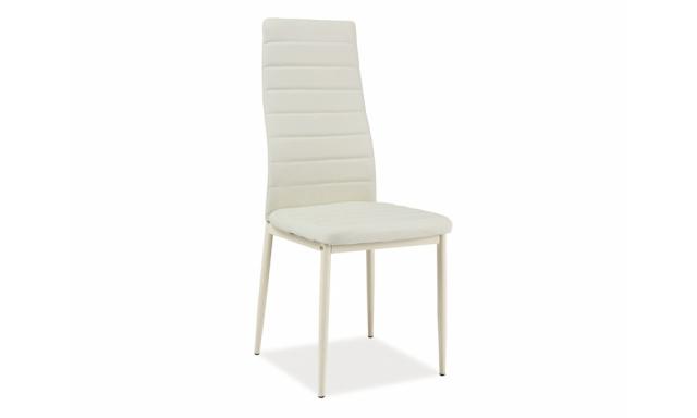 Moderní jídelní židle SIG261, krémová