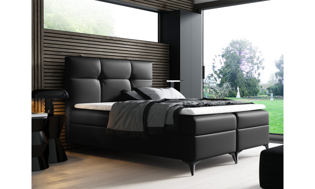 Kontinentální postel Fresina 180x200, černá