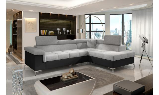 Moderní rohová sedačka Colnago, černá/šedá