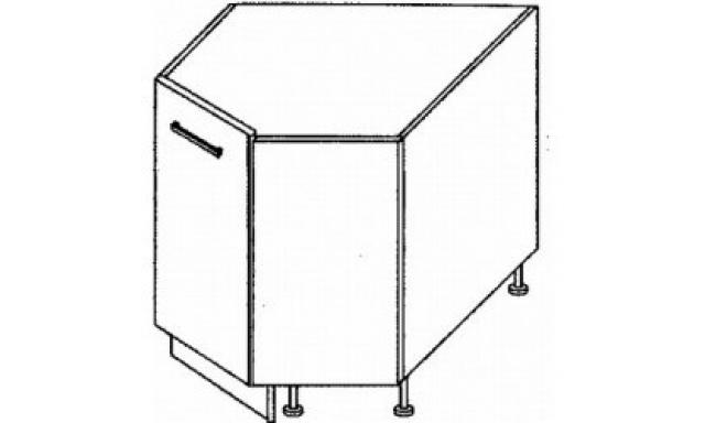 PLATINUM dolní skřínka 90cm D12R/90 rohová