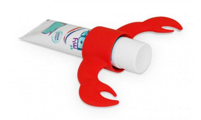 Stojánek na zubní pastu J-ME Lobster, červený