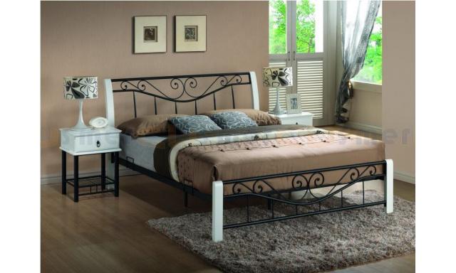 Manželská kovová postel S6 - 160x200cm
