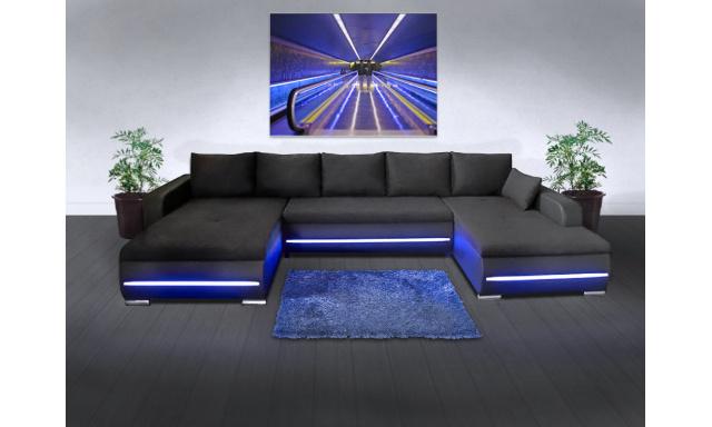 Sedací souprava Luxury U s LED osvětlením - HIT 2019