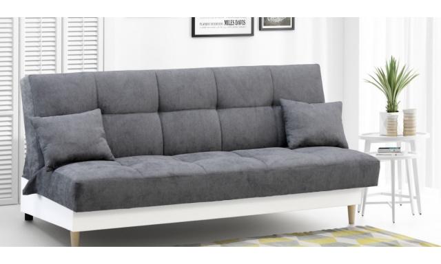Moderní pohovka Belto, bílá/šedá