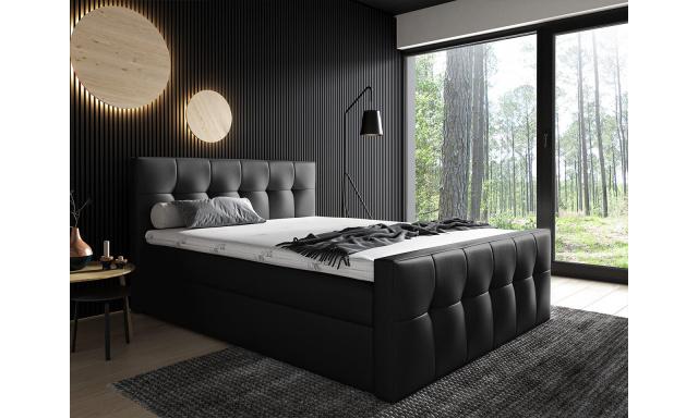 Kontinentální postel Mirage 200x200, černá
