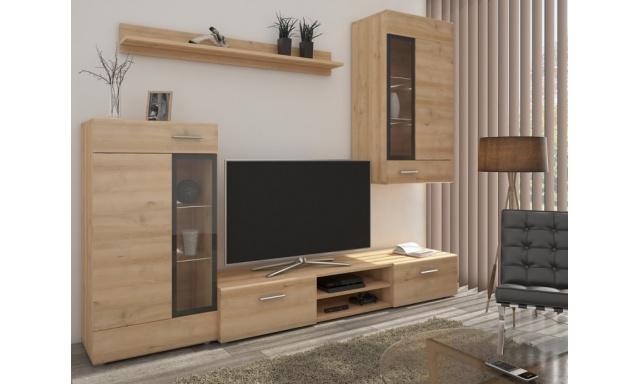 Moderní obývací stěna Tiego, sonoma