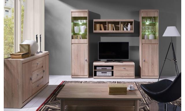 Moderní bytový nábytek Spezzo sestava B, sonoma