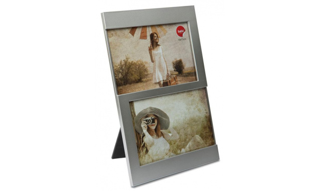 Fotorámeček BALVI Dijon, 2x 10x15cm, stříbrný