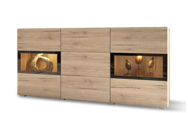 Luxusní komoda Borgo, dub san remo