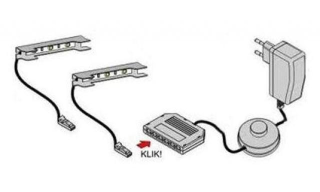 LED osvětlení k TV stolku Igore new, 2-bodové červené