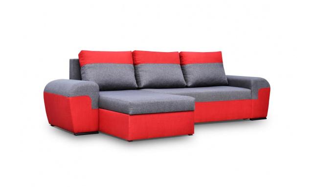 Moderní sedací souprava Moreton, Červená