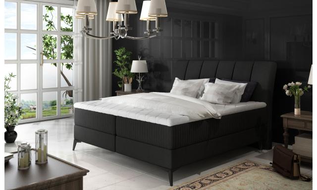 Elegantní box spring postel Ariana 180x200, černá