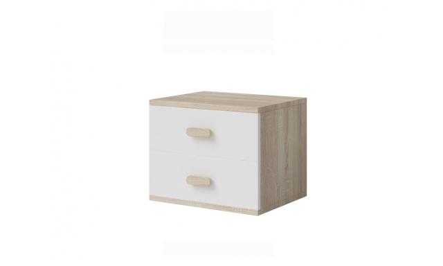 Noční stolek Stone 22, sonoma/bílá