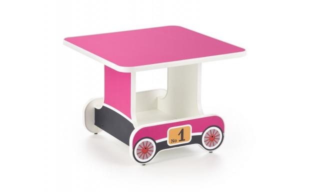 Dětský psací stůl Lokomotiva, růžový
