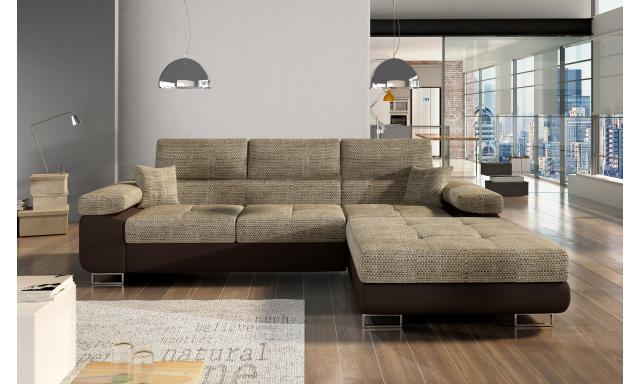 Moderní rohová sedačka Alcudia, hnědá