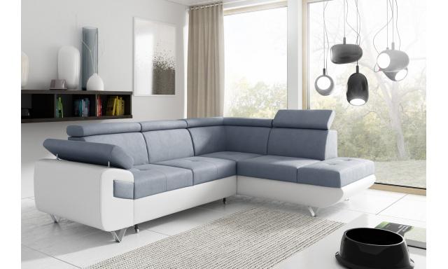 Moderní sedačka Ballo, bílá/modrá