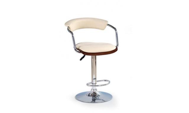 Barová židle H-19 třešeň/béžová