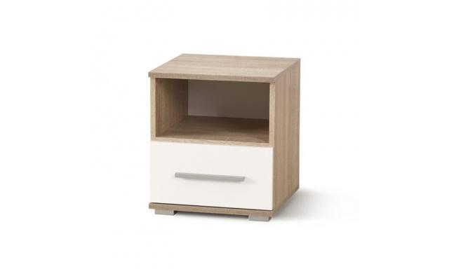 Noční stolek Lenka, sonoma / bílá