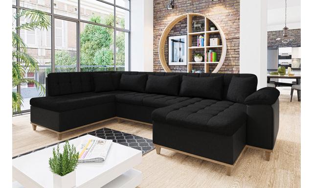 Luxusní sedací souprava Odense, černá