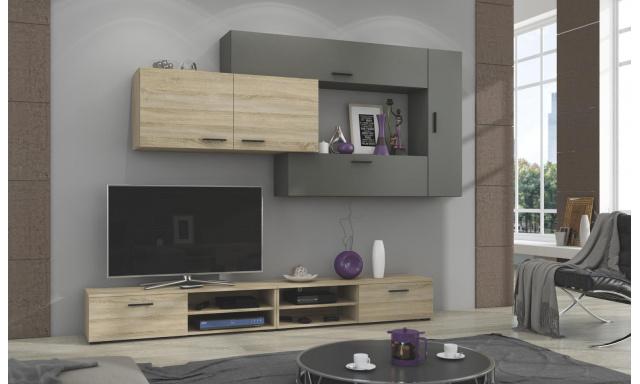 Moderní bytová stěna Java, sonoma