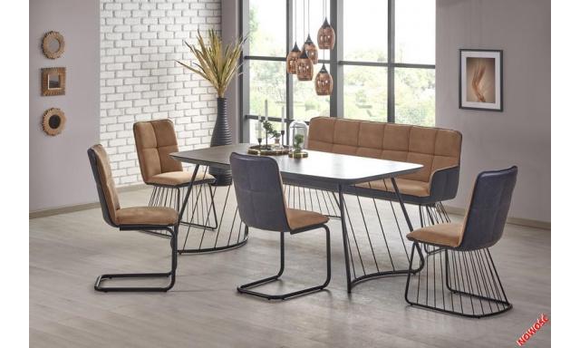 Moderní jídelní set H2001 (Stůl + 4x židle + lavice)