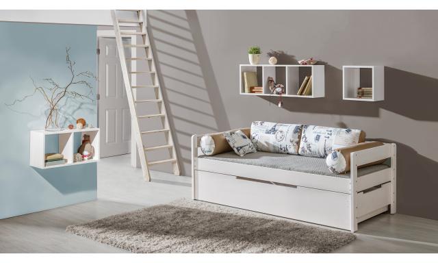 Dětská postel Bardot s přistýlkou z masivu